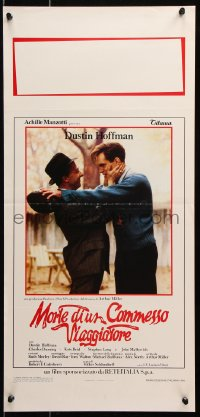 6f885 DEATH OF A SALESMAN Italian locandina 1986 great image of Dustin Hoffman as Willy Loman!
