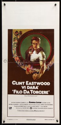 6f892 EVERY WHICH WAY BUT LOOSE Italian locandina 1979 Peak art of Clint Eastwood & Clyde the orangutan!