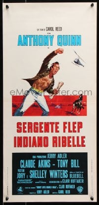 6f893 FLAP Italian locandina 1970 Native American Anthony Quinn, you have been warned!