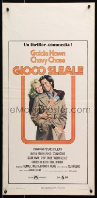 6f895 FOUL PLAY Italian locandina 1979 Lettick art of Goldie Hawn & Chevy Chase, screwball comedy!