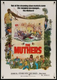 6f014 MUTHERS Lebanese 1976 blaxploitation, wild action artwork of female heroes!