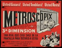 6f009 METROSCOPIX South American 1953 EARLY 3-D, cool different of lion leaping from screen!