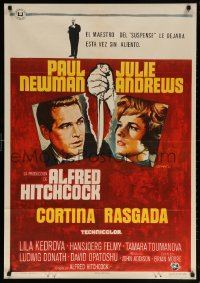 6f069 TORN CURTAIN Spanish 1966 Paul Newman, Julie Andrews, Hitchcock tears you apart w/suspense!