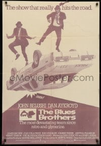 6f004 BLUES BROTHERS 27x40 foreign poster 1980 John Belushi & Dan Aykroyd, completely different!