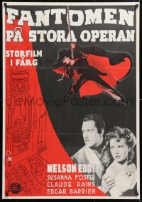 6f047 PHANTOM OF THE OPERA Swedish R1951 cool different dramatic artwork by Aberg!