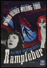 6f048 STAGE FRIGHT Swedish R1960 Marlene Dietrich, Jane Wyman, directed by Alfred Hitchcock!
