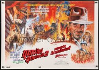 6f029 INDIANA JONES & THE TEMPLE OF DOOM Thai poster 1984 action art of Harrison Ford, Kwow!
