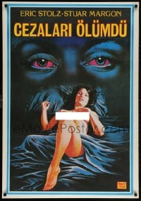 6f017 RUNNING HOT Turkish 1984 Monica Carrico, Eric Stoltz, art of sexy naked woman and eyes!
