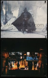 6g008 EMPIRE STRIKES BACK 3 color 16x20 stills 1980 cool images of Darth Vader, Luke & Hoth battle!