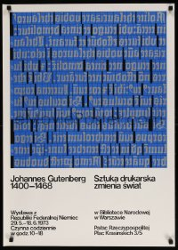 6g223 JOHANNES GUTENBERG 1400-1468 exhibition Polish 24x33 1973 art exhibition for the printer!