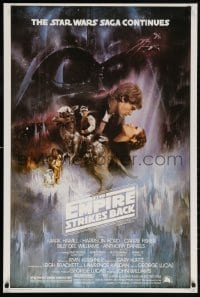 6g014 EMPIRE STRIKES BACK 27x40 REPRO poster 2000s Gone With The Wind style art by Kastel!
