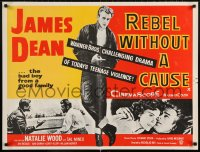 6g017 REBEL WITHOUT A CAUSE 25x34 English REPRO poster 1955 Dean was a bad boy from a good family!