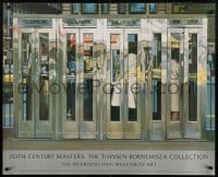 6g200 20TH CENTURY MASTERS 30x37 museum/art exhibition 1987 Telephone Booths by Richard Estes!