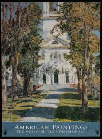 6g202 AMERICAN PAINTINGS 26x36 museum/art exhibition 1993 Church at Gloucester by Childe Hassam!