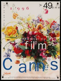 6g027 CANNES FILM FESTIVAL 1996 24x32 French film festival poster 1996 cool image of flower arrangement by J.F. Aloisi!
