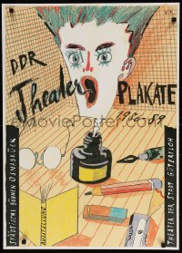 6g208 DDR THEATER PLAKATE 1986 - 1989 24x33 German museum/art exhibition 1989 art by Volker Pfuller!
