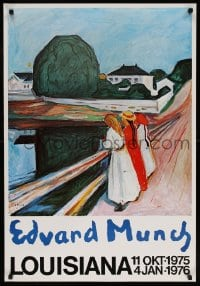 6g213 EDVARD MUNCH 25x36 Danish museum/art exhibition 1975 three women looking over a bridge!