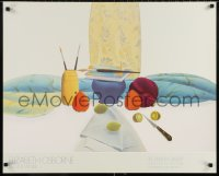 6g214 ELIZABETH OSBORNE 25x31 museum/art exhibition 1984 cool still life artwork of fruit and more!
