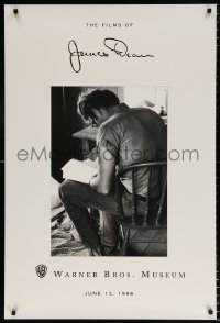 6g216 FILMS OF JAMES DEAN 27x40 museum/art exhibition 1996 Warner Bros, great actor w/back turned!