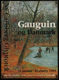 6g219 GAUGUIN OG DANMARK 25x34 Danish museum/art exhibition 1985 art by Paul Gauguin!
