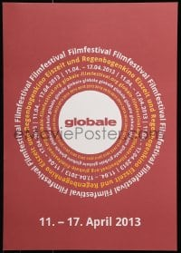 6g030 GLOBALE FILM FESTIVAL 17x24 German film festival poster 2013 cool circular art design!