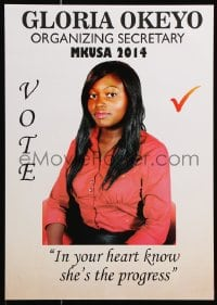 6g021 GLORIA OKEYO 12x17 Kenyan political campaign 2014 Mount Kenya University Students Association!