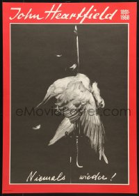 6g224 JOHN HEARTFIELD 1891 - 1968 16x23 East German museum/art exhibition 1977 dove impaled on bayonet!