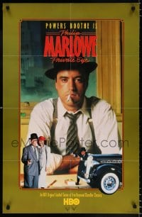 6g009 PHILIP MARLOWE PRIVATE EYE 2-sided tv poster 1983 Powers Boothe in the classic title role!