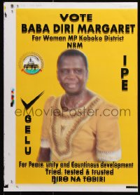 6g022 SARAH NETALISIRE 2-sided printer's test 13x18 Ugandan political campaign 2016 NRM!