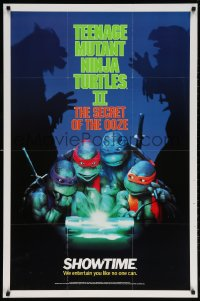 6g010 TEENAGE MUTANT NINJA TURTLES II tv poster 1991 Secret of the Ooze, great images!