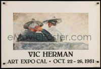 6g245 VIC HERMAN ART EXPO CAL 23x34 museum/art exhibition 1978 wild art, horizontal style!