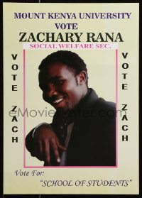6g024 ZACHARY RANA 12x17 Kenyan political campaign 2000s Mount Kenya University Students Association!