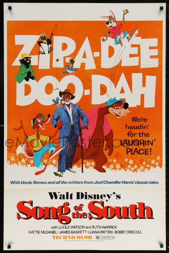eMoviePoster com: 6g907 SONG OF THE SOUTH 1sh R1972 Walt Disney