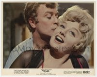 6h044 ALFIE color 8x10 still 1966 young Michael Caine romancing much older Shlley Winters!