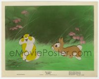 6h046 BAMBI color-glos 8x10 still 1942 Disney classic, Thumper finds romance with another rabbit!