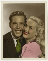 6h048 BETTY GRABLE/DICK HAYMES color 8x10.25 still 1940s wonderful portrait of the Fox stars!