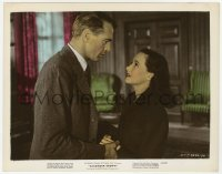6h053 CASANOVA BROWN color 8x10.25 still 1944 close up of Gary Cooper holding Teresa Wright's hands!