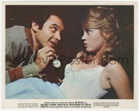 6h054 CAT BALLOU color 8x10 still #1 1965 Michael Callan shows pocket watch to sexy Jane Fonda!