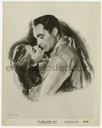 6h273 DEVIL MAKES THREE 8x10.25 still 1952 great art of Gene Kelly & Pier Angeli about to kiss!