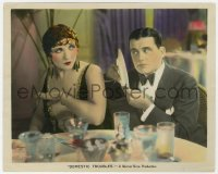 6h055 DOMESTIC TROUBLES color 8x10 still 1928 Arthur Rankin shields himself from sexy Betty Blythe!