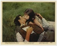 6h061 GREEN MANSIONS color 8x10 still #1 1959 Audrey Hepburn & Anthony Perkins kissing on ground!