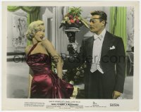 6h062 HOW TO MARRY A MILLIONAIRE color 8x10.25 still 1953 Alex D'Arcy grabs sexy Marilyn Monroe!