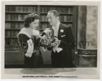 6h485 JEWEL ROBBERY 8x10.25 still 1932 William Powell shows all the jewelry to Kay Francis!