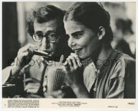 6h065 MANHATTAN 8x10 mini LC #3 1979 Woody Allen plays harmonica for Mariel Hemingway sipping soda!