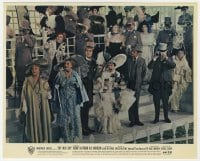 6h066 MY FAIR LADY color 8x10 still 1964 Audrey Hepburn rooting for her horse at the races!
