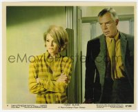 6h069 POINT BLANK color 8x10 still #9 1967 great close up of sexy Angie Dickinson & Lee Marvin!