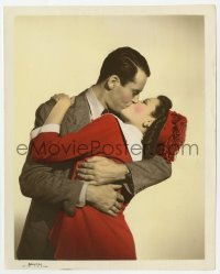 6h071 RINGS ON HER FINGERS color-glos 8x10 still 1942 Gene Tierney & Fonda kissing passionately!