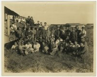 6h817 SHE GOES TO WAR candid 8x10.25 still 1929 great portrait of the entire cast & crew by planes!