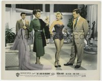 6h072 SHE'S BACK ON BROADWAY color 8.25x10.25 still 1953 Virginia Mayo, Wymore, Lovejoy, Picerni!