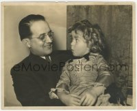 6h820 SHIRLEY TEMPLE deluxe 8x10 still 1930s great image of her on man's lap looking shocked!